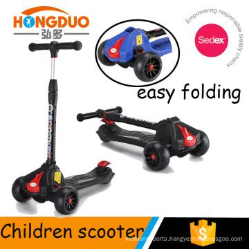 Folding button big wheel scooter