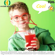 Colorful Plastic Long Glasses Crazy Straw (HDP-0036)