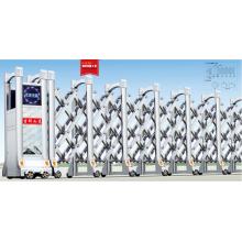 Portón plegable eléctrico retráctil automático de acero inoxidable