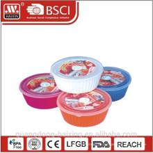 Круглая микроволновой продовольствия Containers(1.65) пластмассовых изделий