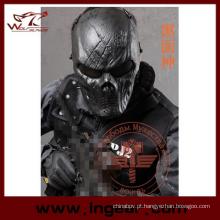 Malha de Metal tático máscara fantasma máscara Cosplay máscara Máscara militar