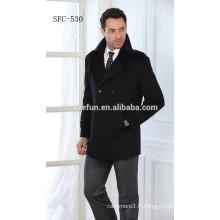 Prix usine slim fit 100% pur de longs manteaux en cachemire pour les hommes