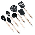 7PCS Rose Gold Plated Silicone Kitchen Utensil Set