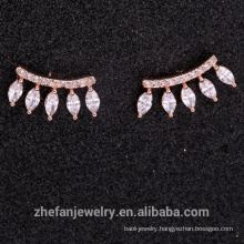 2018 new design marquise zircon crystal stone earring rose gold plated E