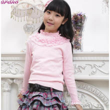korea baby girl sweater design sweater knitting wool for baby High collar sweater designs for baby girls
