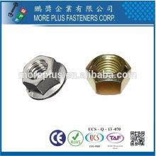 Taiwán de alta resistencia de acero inoxidable de cobre de latón de aluminio hexagonal tuerca de nylon de bloqueo
