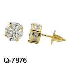 Nuevo estilo de plata esterlina 925 Studs K chapado en oro