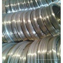 Fil d'acier ovale galvanisé à chaud, fils ovales à haute résistance à l'acier