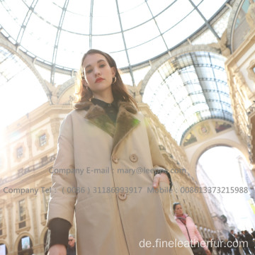 Mink Reversible Mink Damenmantel Winter