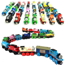 Children's puzzle wooden magnetic Thomas mini train toy