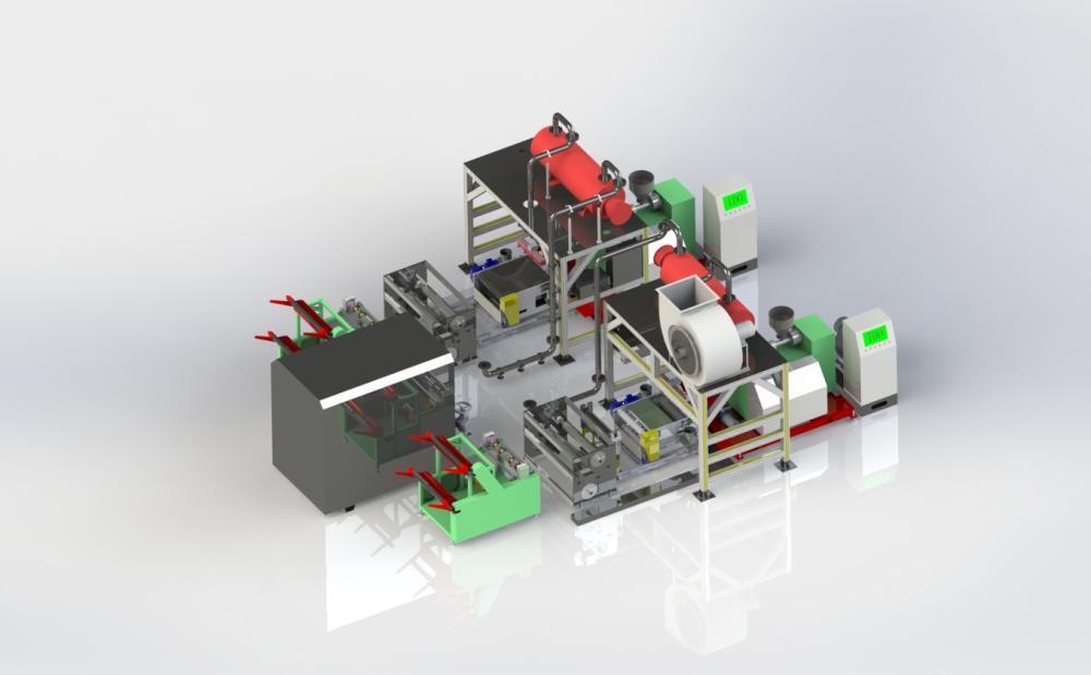 600 3d Melt Blown Nonwovens Manufacturing Machine