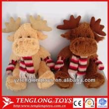 Juguetes de peluche lindo de alta cantidad juguetes de Navidad Elk juguetes de Santa Claus