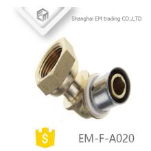 EM-F-A020 Hexagon filetage femelle en laiton coudé raccords de compression