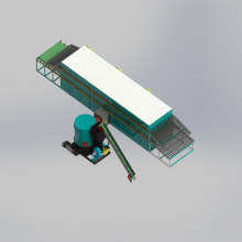 Furniertrocknung in einer Sperrholzmaschine