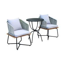 Nova mesa de café design pátio e conjunto de cadeiras