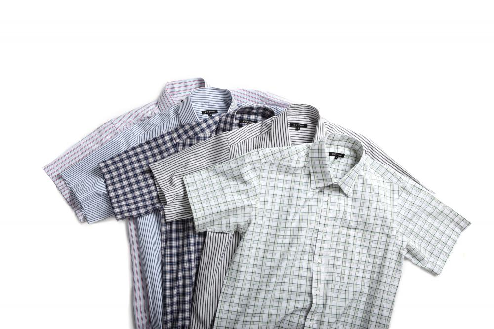 Men's check stripe shirts