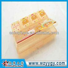 Caixa do comprimido de plástico retangular OEM para viagem de negócios