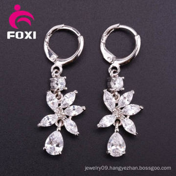Gemstone Hoop Earring Cubic Zirconia Jewelry