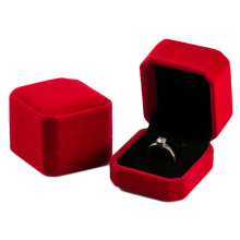 Luxe Red Velvet Ring Box Groothandel