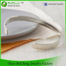 Свадебные подарки высокого полированный браслет из нержавеющей стали