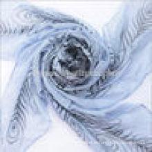 Media lana de alta calidad impreso señora bufandas