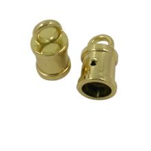 Accesorio de moda Cordón de metal dorado Cord End