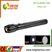 China Venta al por mayor 10w de aluminio de emergencia potente 5 modo 3D Zoomable más brillante más barato Mejor cree t6 llevó linterna