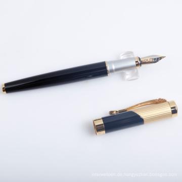 Luxus schwarzer Kalligraphie-Stift mit Logo als Geschäfts-Geschenk