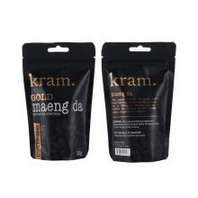 Stand up Dried Food Biodegradable Coffee Tea Aluminum Foil Ziplock Pouch Block Flat Bottom Coffee Kraft Paper Packaging Bags