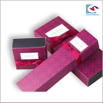 Impresión de tarjeta blanca de tamaño personalizado Cookie Dessert Chocolate Packaging Box
