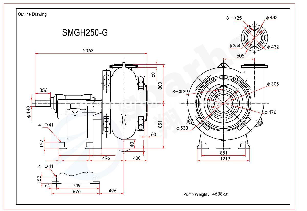 SMGH250-G outline drawing