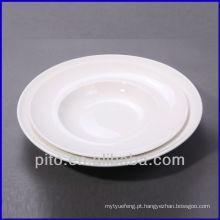 P & T de porcelana fábrica colar placas, placas profundas, placas de cerâmica