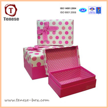 Pop Lovely Cartboard Embalagem Gift Paper Box with Ribbon
