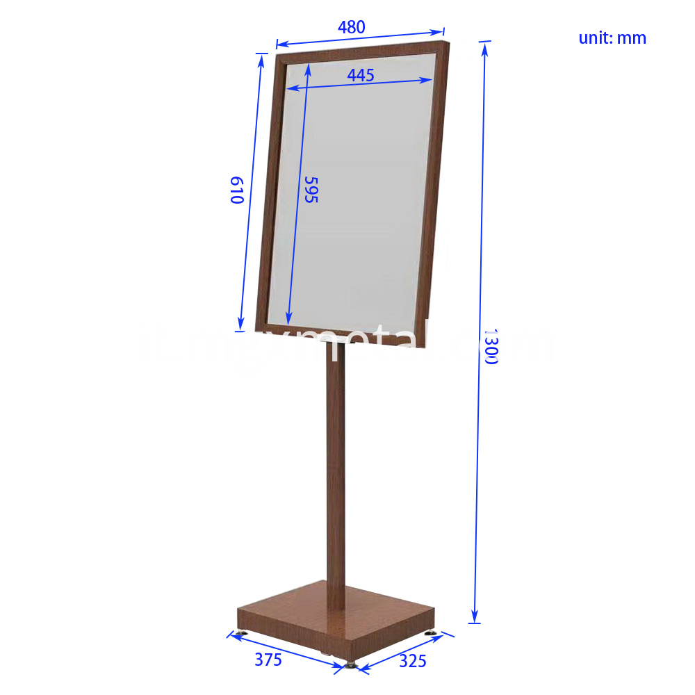 SSDT0001 Bronze Color A1 Floor Poster Stand Size