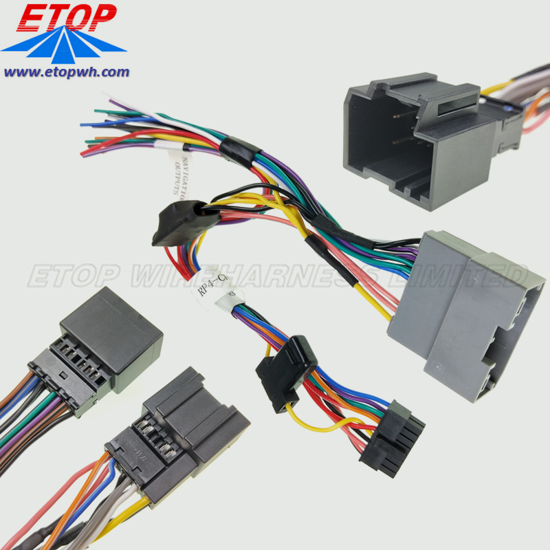 auto stereo wiring assembly