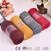Förderung hochwertiger 100% Polyester einfache dicke Polar Fleece Decke