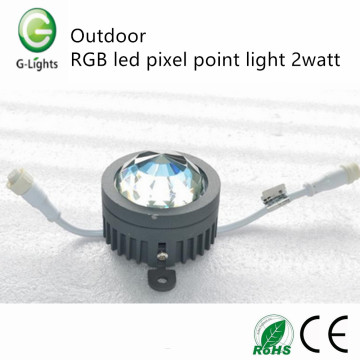 Outdoor RGB led pixel point light 2watt