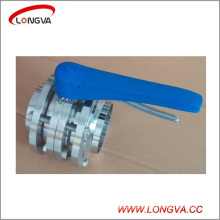 Stainless Steel 304 Sanitary 3-Piece Welding Butterfly Valve
