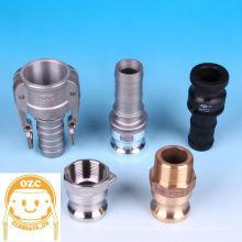 Acoplamentos de alavanca OZC duráveis e de alta qualidade com rosca de NPT, BSPT, DIN, etc. Fabricado por Ozawa & Co., Ltd. Fabricado no Japão