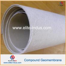 Geomembrana compuesta con geotextil no tejido y membrana