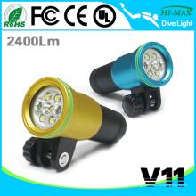 2015 neue heiße verkaufende rote Flutphotographie UV-Taschenlampe Tauchen