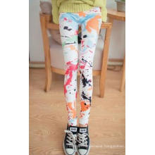 Sexy Girls Multi Colored Seamless Printed Leggings Jeans