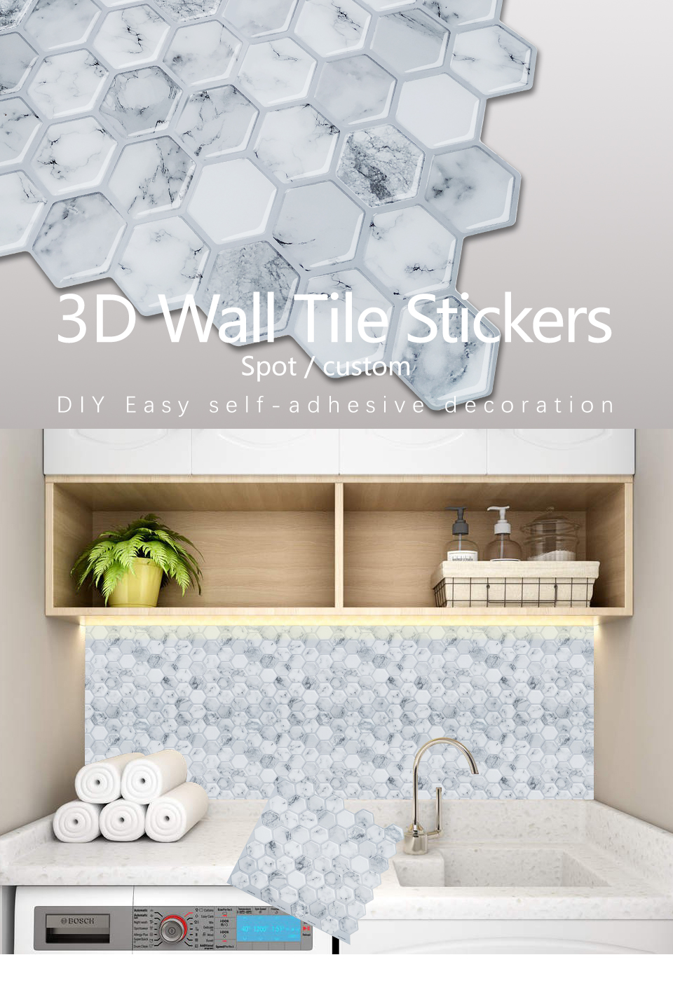 3d Mosaic Tile Stickers