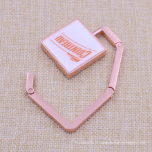 Placage en métal Copper Rectangel Bag Holder Hook Custom Sale