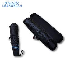 Promotional Items With Logo Prints 21 Inch Wholesale Advertising Fashion Folding Mini Pocket UV Umbrella with Balck EVAGift Case