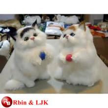 OEM soft ICTI plush toy factory handmade lifelike cat plush toy