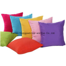 Promotional Plain Simple Design Solid Candy Color Polyester Cotton Seat Sofa Decorative Square Zipper Throw Cushion Cover