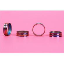 Gade 4 accessoires de vélo Titanium pour casque 20mm, 15mm, 10mm, 5mm et 3MM Rainbow Color