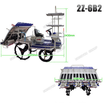 Riding Type 13.2kw Paddy Transplanter Machine 2Z-6B2