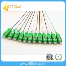 SC/APC 12 fiber Cores Colorful Fiber Optic Pigtail